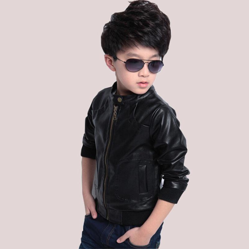 Moda Çocuk Boys Kış Ceket Yeni Kış Kalın Kadife Çocuklar PU Deri Ceket Moda Katı çocuk Sıcak Giysiler Yıpratır
