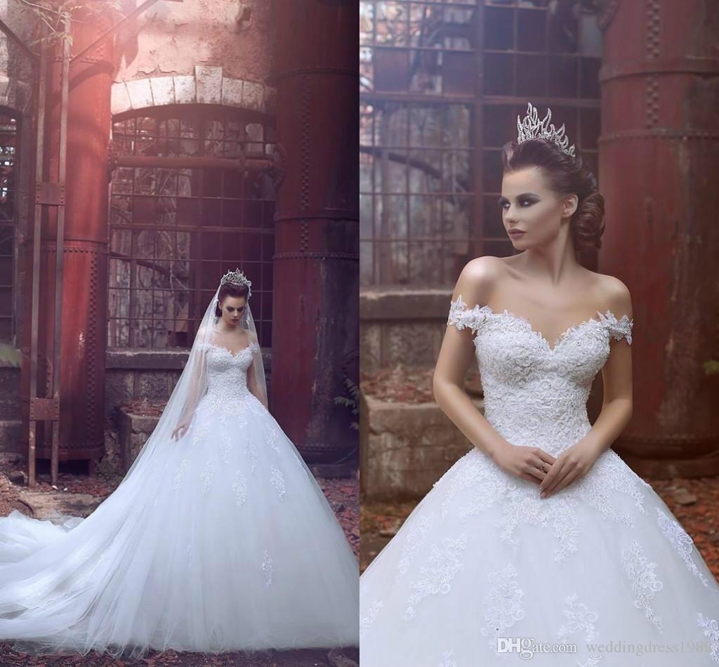 Großhandel Stunning Lace Arabisch Plus Size White Brautkleider Weg ...