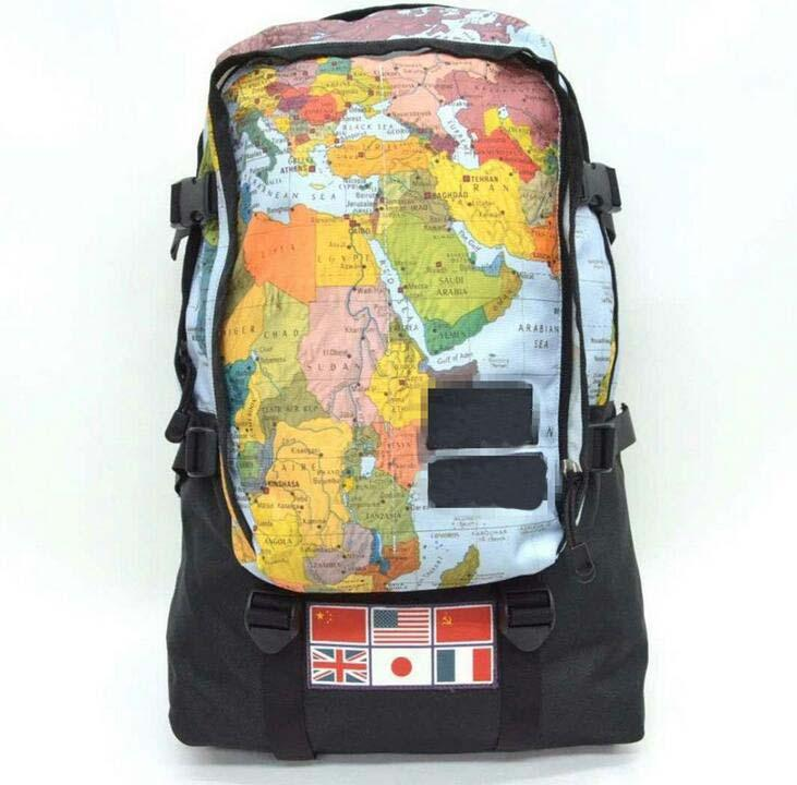 New Arrival Designer Brand Backpack Men Women Sports Bag Map Letter ... 23f743920a901