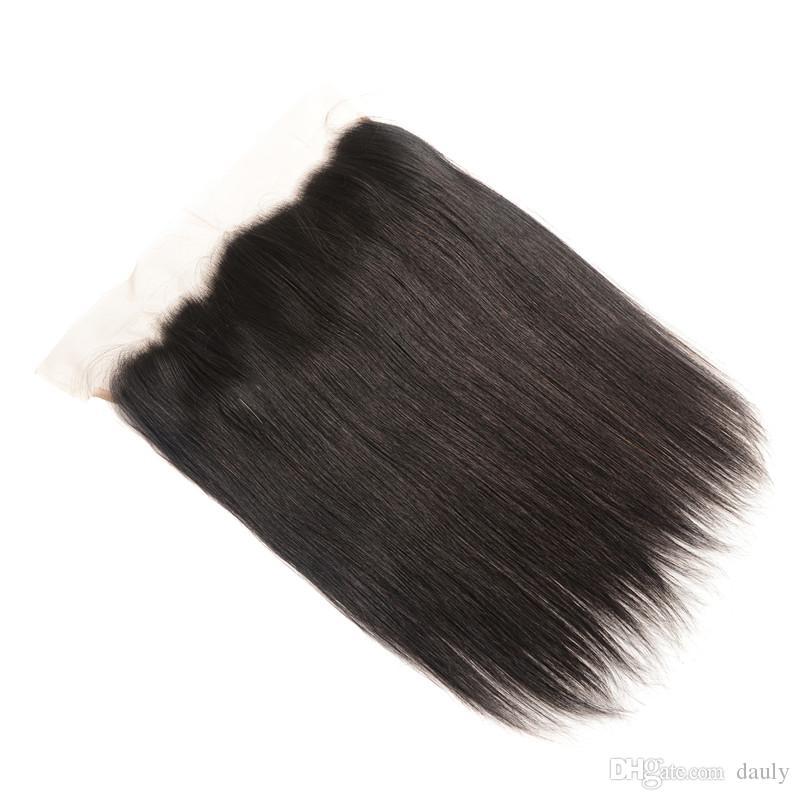 beautysister hair cheap lace frontal closure 13*4 brazilian virgin human hair mateiral made natural black color good quality body wave