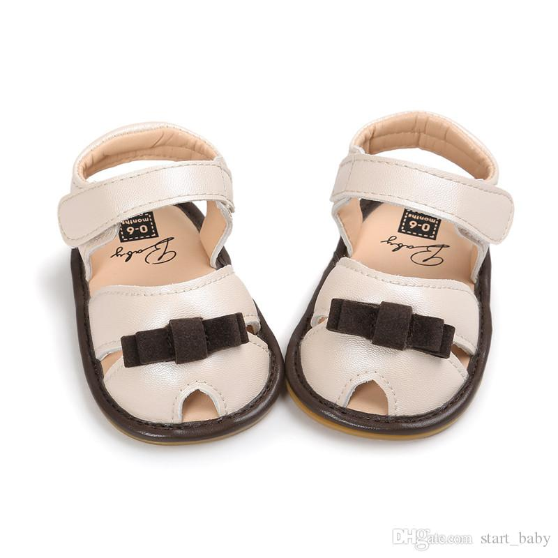 Summer Baby Girls Sandals Moccasins Toddler Soft Sole First Walkers PU Leather Hook & Loop Lovely Bow Toddler Shoes B11