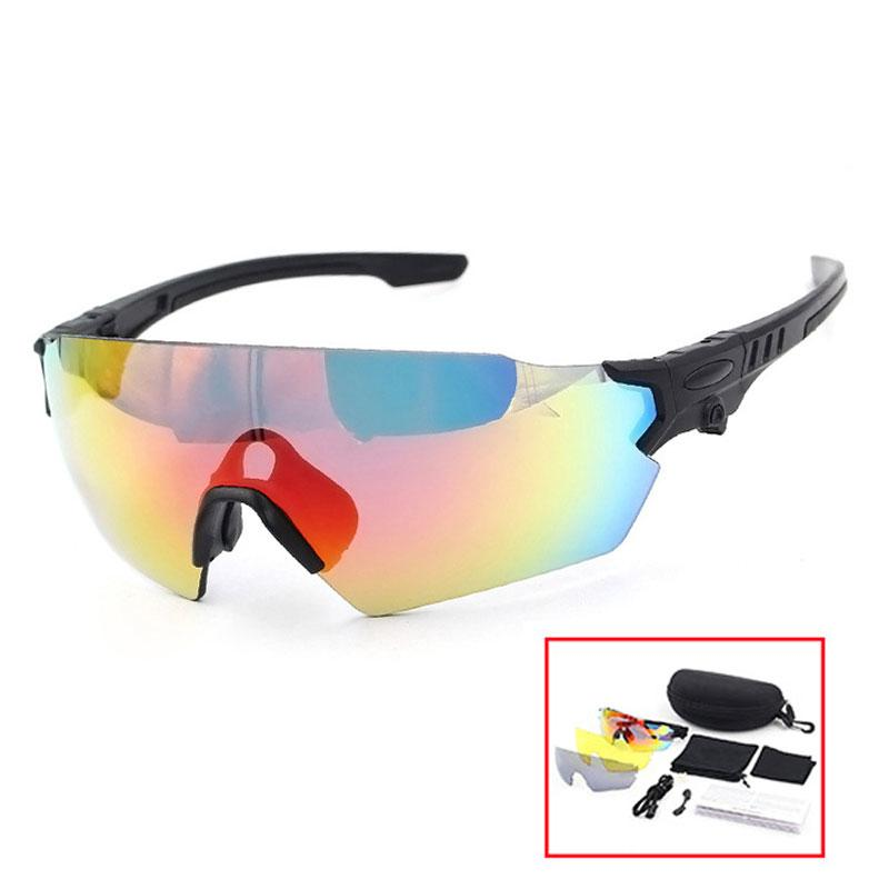 ca7583f5557d1 3 Lens 100 UVA Bicycle Eyewear Men Goggle Glasses Sunglasses ...