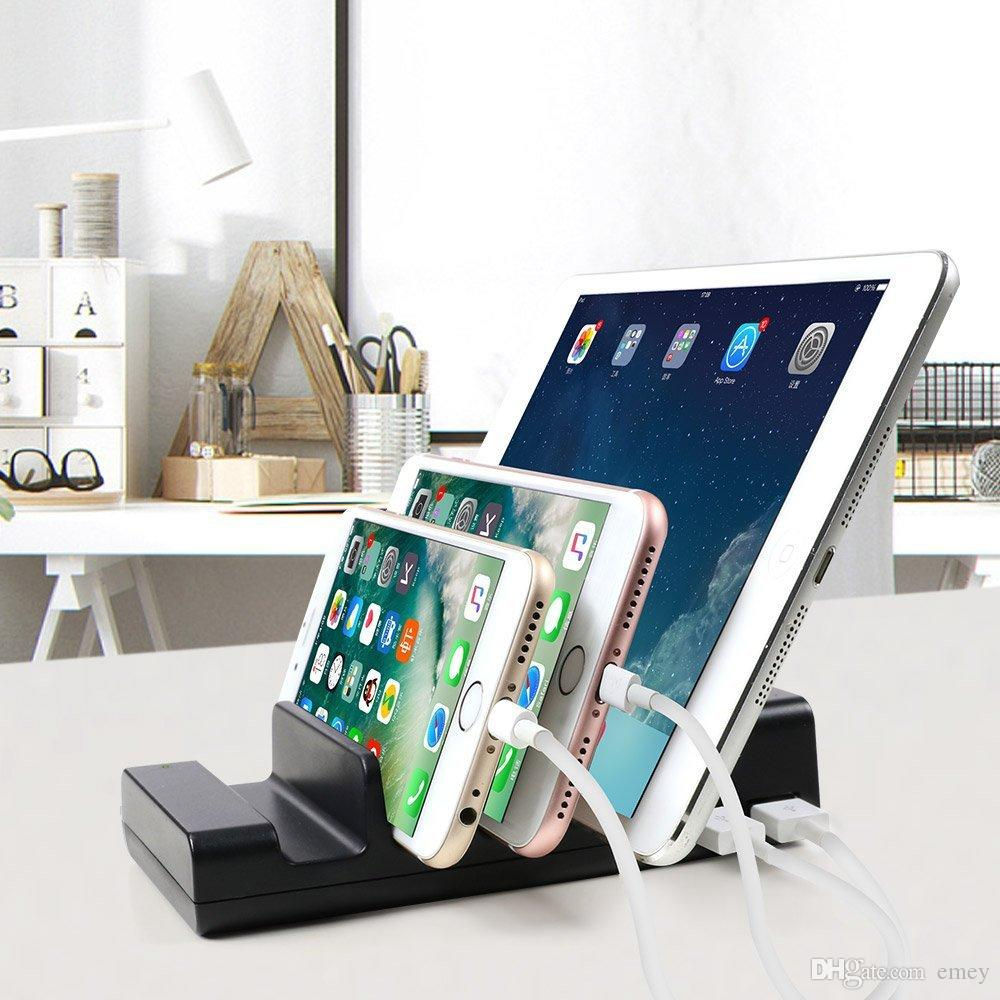 Universal Holder Desktop Charger 4 Port Usb Charging Station Organizer Multiple Dock Stand For Iphone 6 7 8 Plus Ipad 5 Pro From China Dhgate