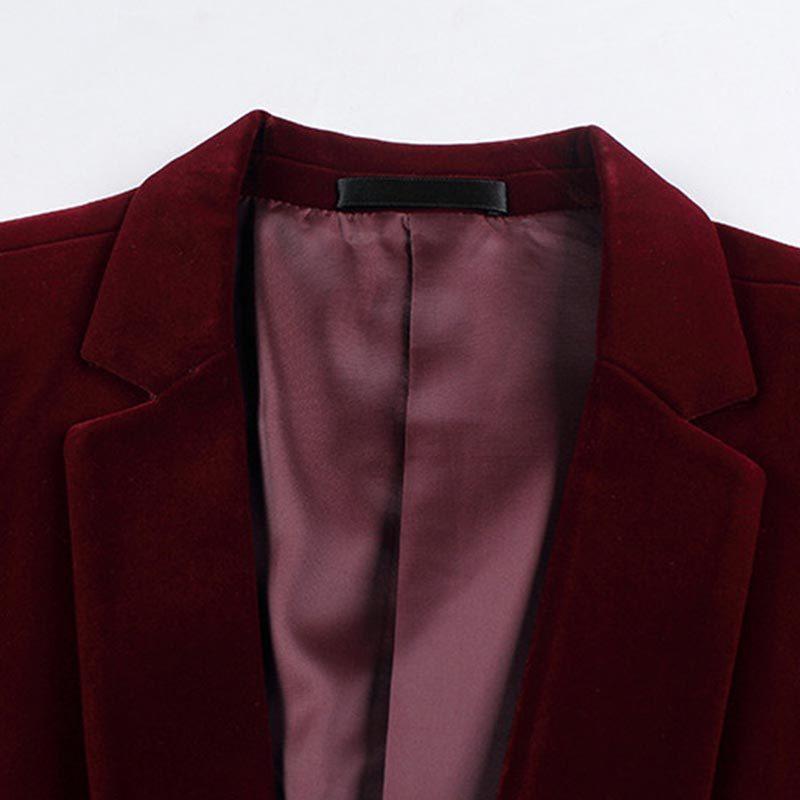TFETTERS Brand New Fashion Einzigartige Männer Anzüge Blazer Styles Männer Cord Single Button Kerbkragen Männer Blazer und Jacken 2017