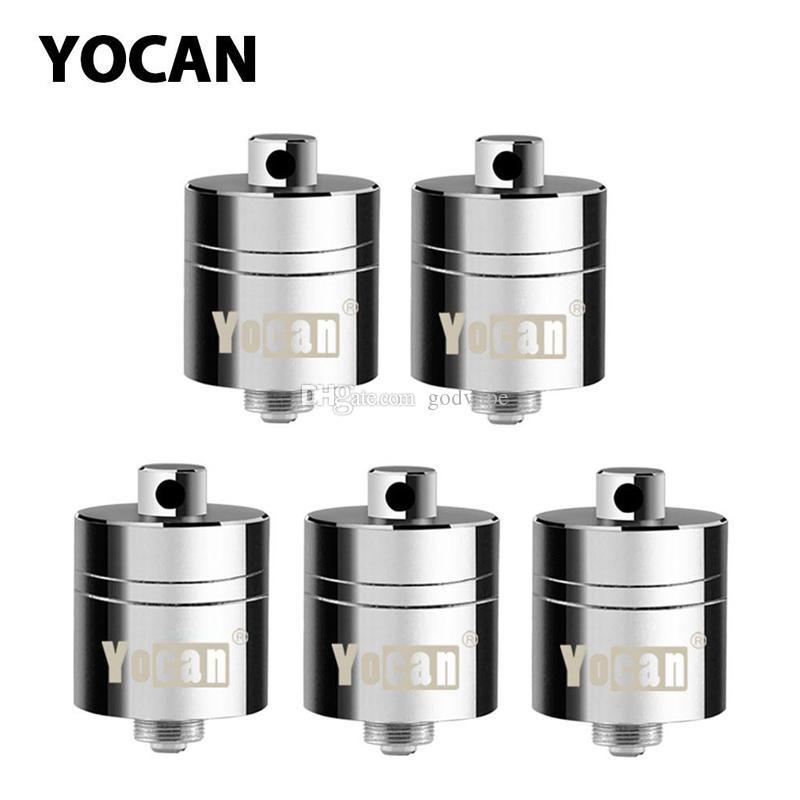 Calidad Yocan Evolve PLUS XL Bobinas Quad cuarzo bobina de recambio de piezas de cera seca hierba vaporizador Para Yocan Evolve PLUS XL batería Starter Kits