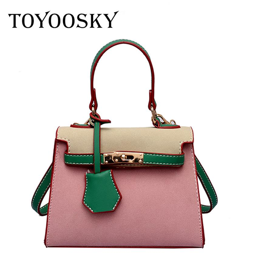 TOYOOSKY Scrub Leather Handbag For Women 2018 Fashion Female Panelled  Shoulder Bags Women Personality Small Crossbody Bags Shoulder Bags Cheap Shoulder  Bags ... 0ed97820ce84c
