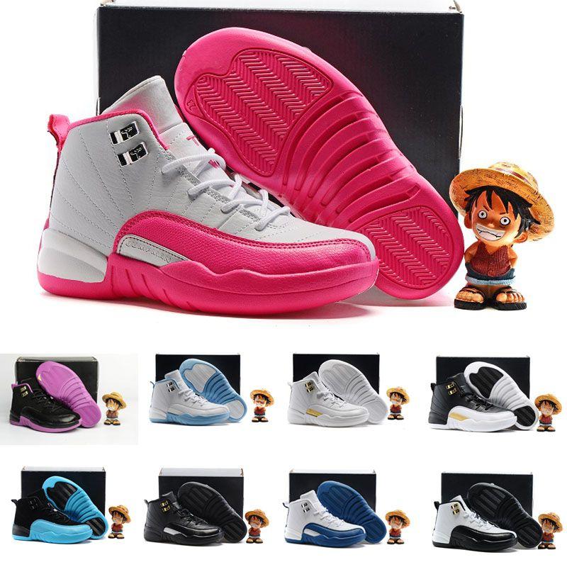 newest ea6af 2275b Großhandel Nike Air Jordan 6 11 12 Retro Kinder 12 12s Schuhe Kinder  Basketball Schuhe Junge Mädchen 12s Französisch Blau Die Master Taxi  Sportschuhe ...