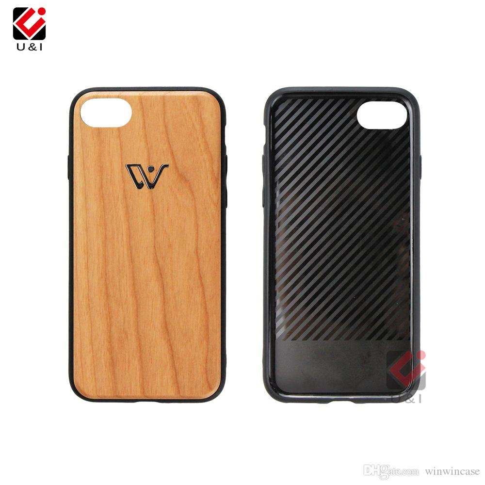 Luxury bronzing wood phone case for iPhone x 6 6s s 7 8 plus 6plus hybrid wooden back soft tpu rubber protective cover