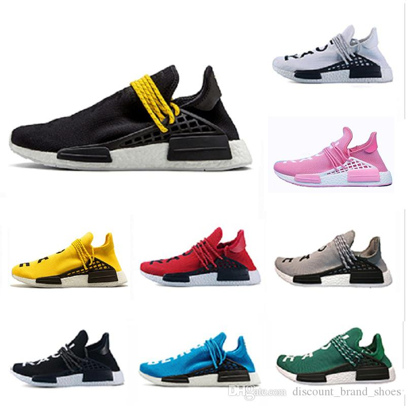 free shipping 7359e 9206d New Human Race Women Men Running Shoes Multi Black Yellow Blue Green Grey  Red White Breathable Outdoor Casual Sports Sneaker Eur36-47