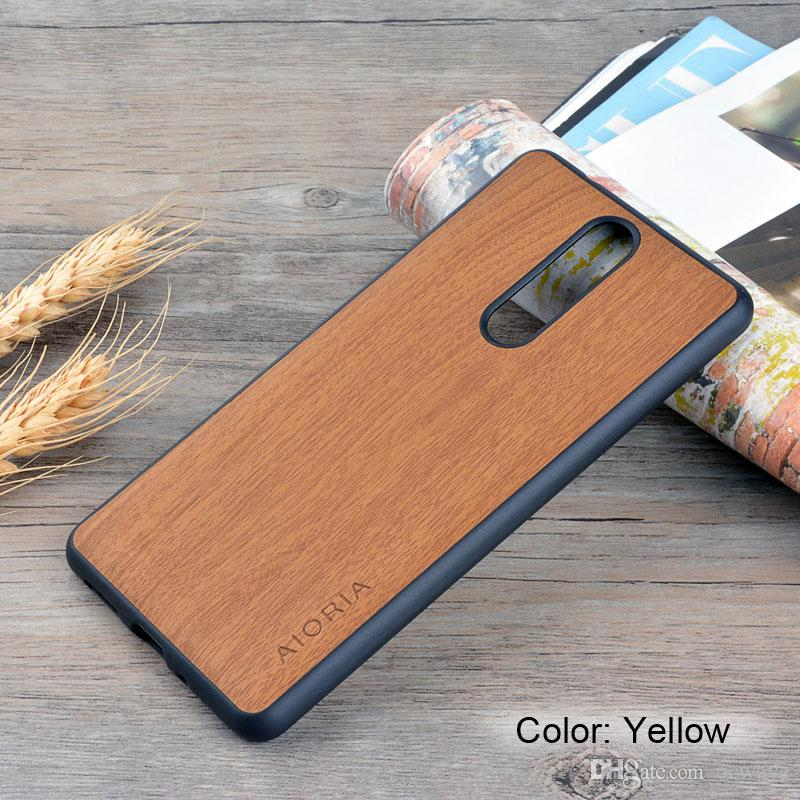 best sneakers 857ed e9f65 Wooden design case for Nokia 8 soft TPU silicone material with wood PU  leather skin covers coque fundas Wood grai