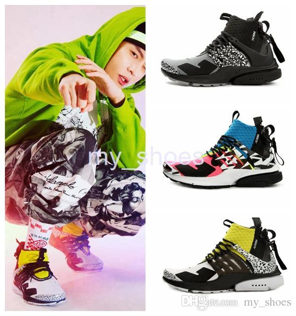 9ba9961ee708 2018 Brand Acronym X Presto Mid Women Mens Running Shoes Sportswear ...