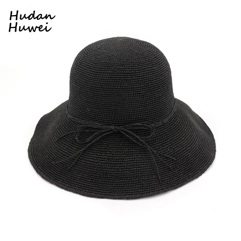 ef5c130885f Women Woven Straw Bucket Hats Foldable Sun Hat Handmade Crochet Hat Wide  Brim Vacation Cap Summer Beach Hats For Ladies GH 501 Mens Hat Sunhat From  ...