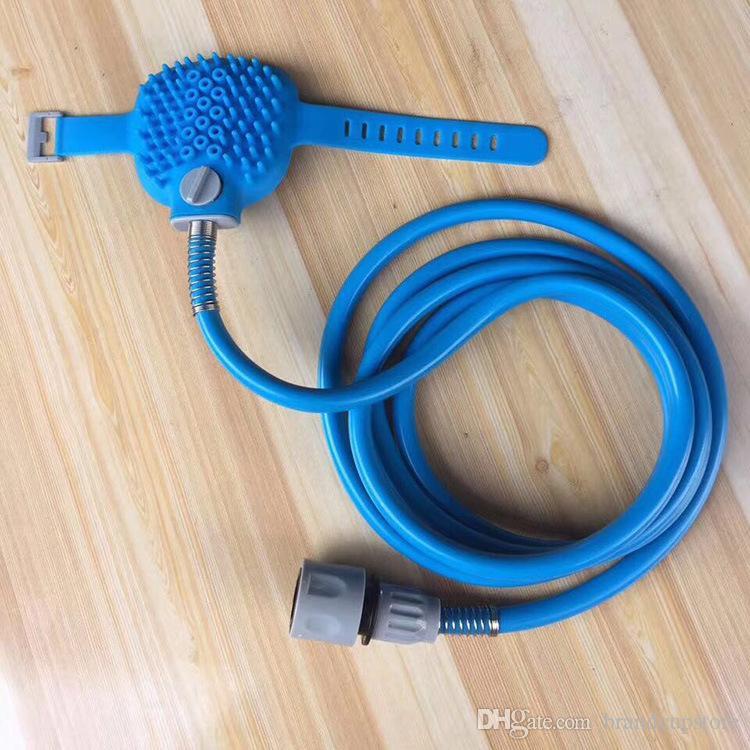Pet shower sprayer bathing tools long hose adjustable grooming massage glove indoor shower bath tub Cleaning Washing Bath Sprayers