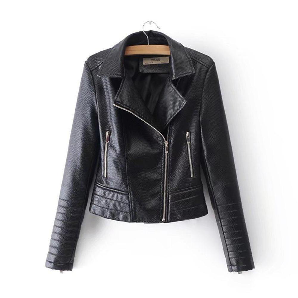 Großhandel Fashion Black Gothic Kunstleder Pu Jacke Mäntel Frauen Winter  Herbst Motorrad Jacken Punk Zipper Oberbekleidung Büro Herbst Mantel Von ... 68905ae6f4