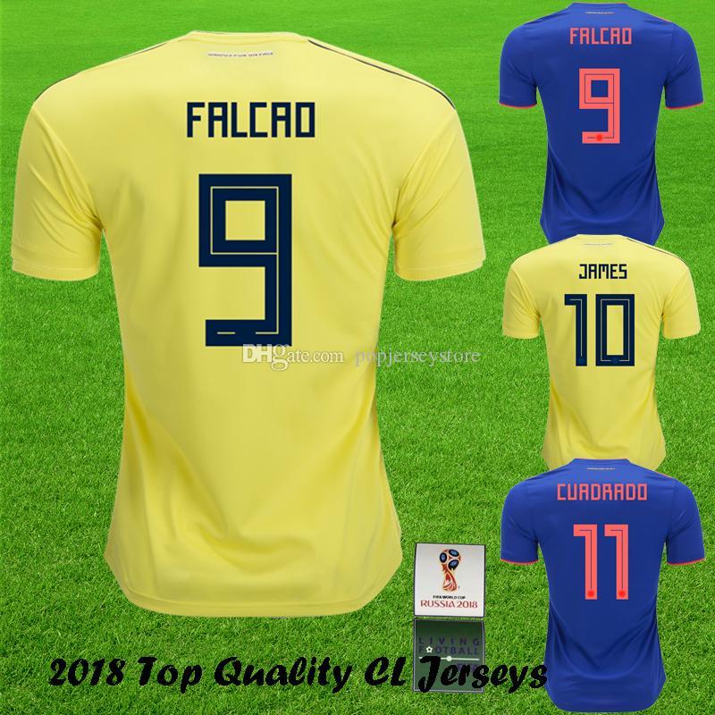 2019 2018 World Cup FALCAO Soccer Jersey JAMES SANCHEZ CUADRADO National  Home Yellow Camiseta De Fútbol JAMES  10 Best Quality Football Shirt From  ... d8824b3bc