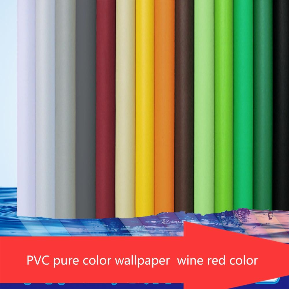 Plain Solid Color Self Adhesive Wallpaper Wall Decor Pvc