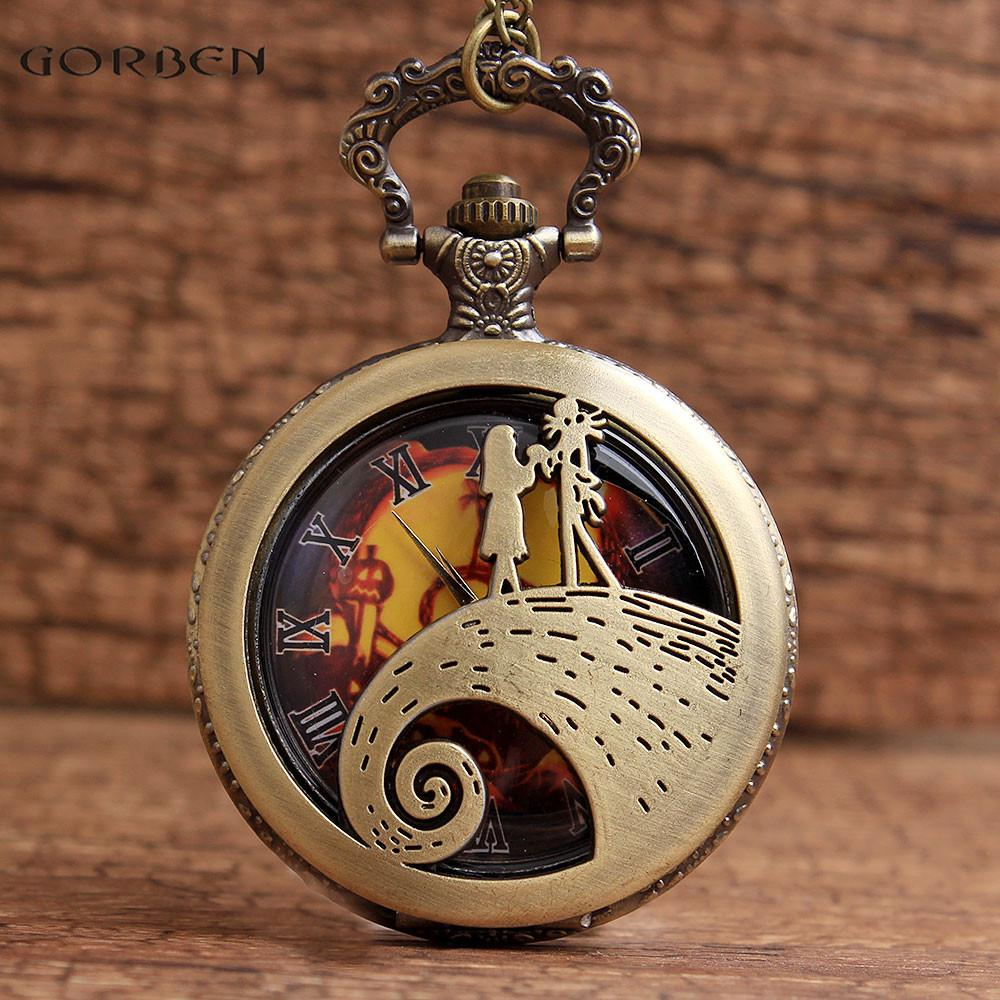 Jack & Sally The Nightmare Before Christmas Pocket Watches Fob ...