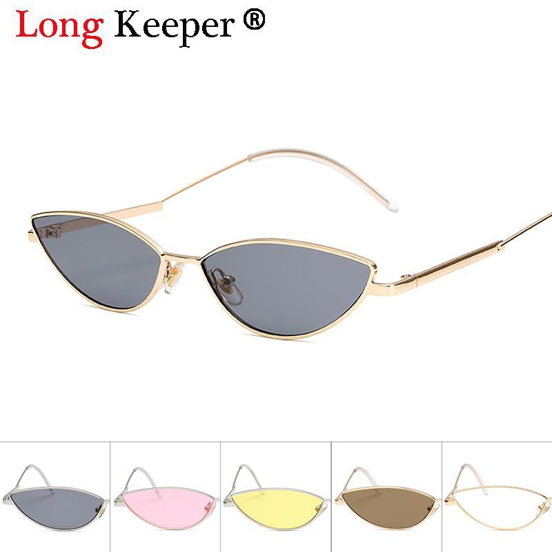 cd381cbf8cd 2018 Fashion Tiny Cat Eye 90S Sunglasses Vintage Retro Gold Metal Frame  Small Cateye Sun Glasses Women Summer Shades Gifts UV400 Sports Sunglasses  Cheap ...