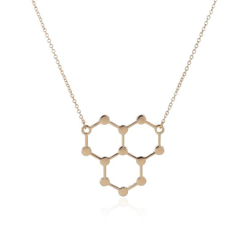 Necklace Resveratrol Necklace Chemical Molecules Necklace Science Structure  Chemistry Dopamine Necklaces jl-120