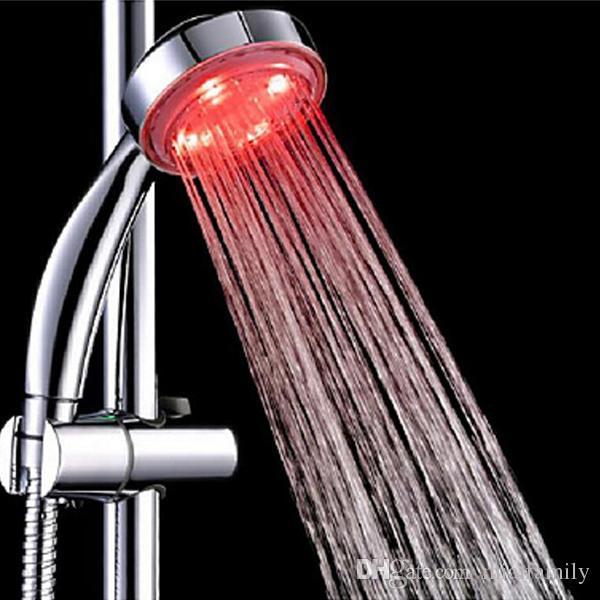 i cambiando colorato LED soffioni doccia bagno doccia con lampade a LED colorati Illuminazione bagno accessori a parete