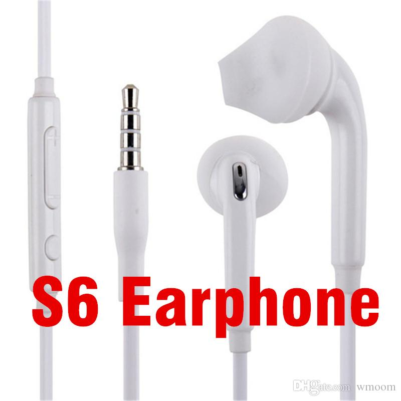 Wholesale 3.5mm Earphone Universal Colorful Earbuds In-Ear Stereo Headphones With Mic Volume Control Earphone For Samsung s6 S7 S8 6plus 5s