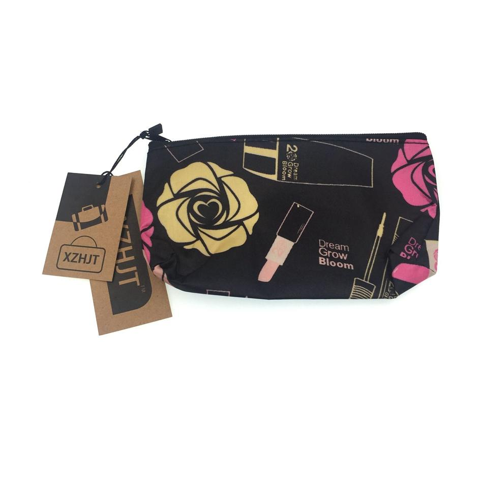 Moda Feminina Travel Insert Roses Handbag Purse Lady Grande Maquiagem Cosmetic Bag Travel Bag Organisateur De Sac A Main