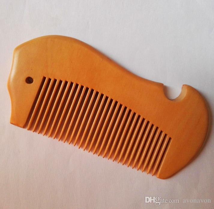 2018 Natural peach Wood Comb Close Teeth Hair Brush massage Brush Beard Comb Pocket hair brushes can print logo a398