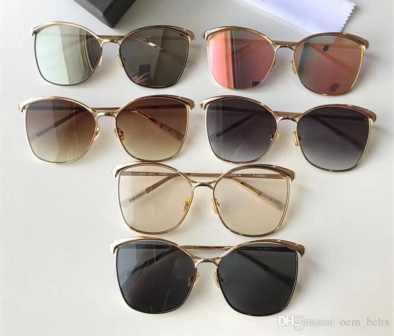 023861c7d6f 2018 Fashion Cat Eye Sunglasses Lady Oversized Adumbral Sunglass Luxury  Hipster Sun Glass Mirror Big Frame Polarized Sunglass UV400 Eyewear Wiley X  ...