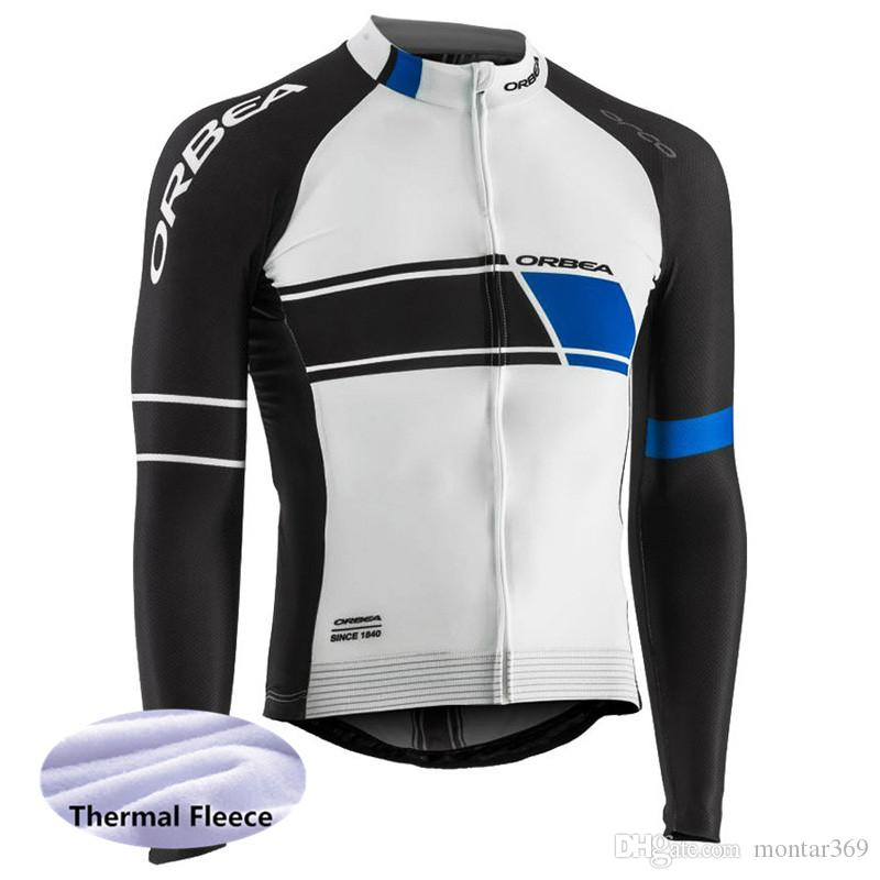 bc0c304f8 2018 ORBEA Team Long Sleeve Cycling Jersey Winter Thermal Fleece Cycling  Clothing MTB Ropa Ciclismo Bicycle Clothes 2014L ORBEA Cycling Jersey  Maillot ...