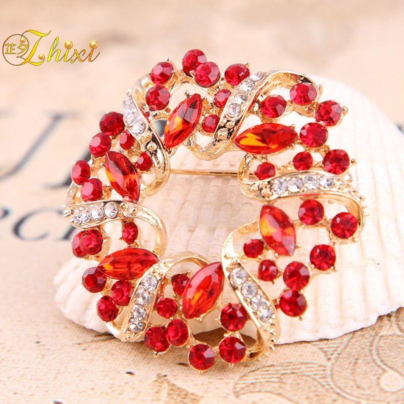 dc1761735c1 ZHIXI Luxury Shiny Zircon Jewelry Brooch Simple And Stylish Jewelry Fine  Brooches Brand Trendy Party Gift For Women B156 UK 2019 From Daliangzhou,  ...