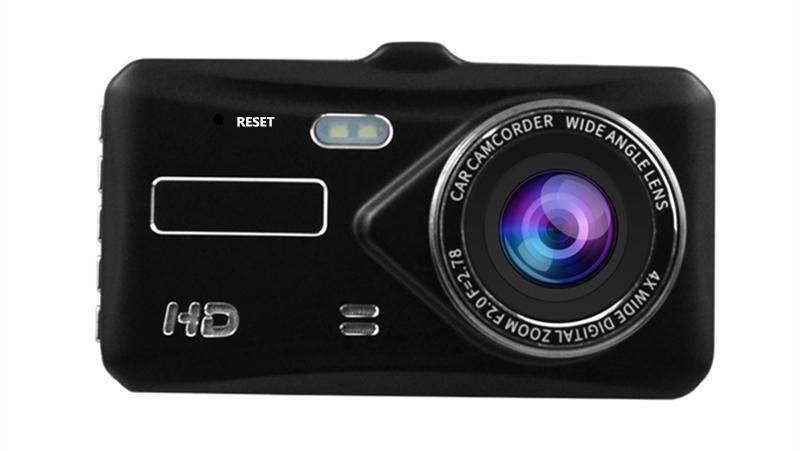 2-Kanal-Auto DVR dashcam Digitalcamcorder Fahrzeugantriebsdatenrekorder 4-Zoll-Touch-Panel-1080P volle HD 170 Grad Nachtsicht G-Sensor