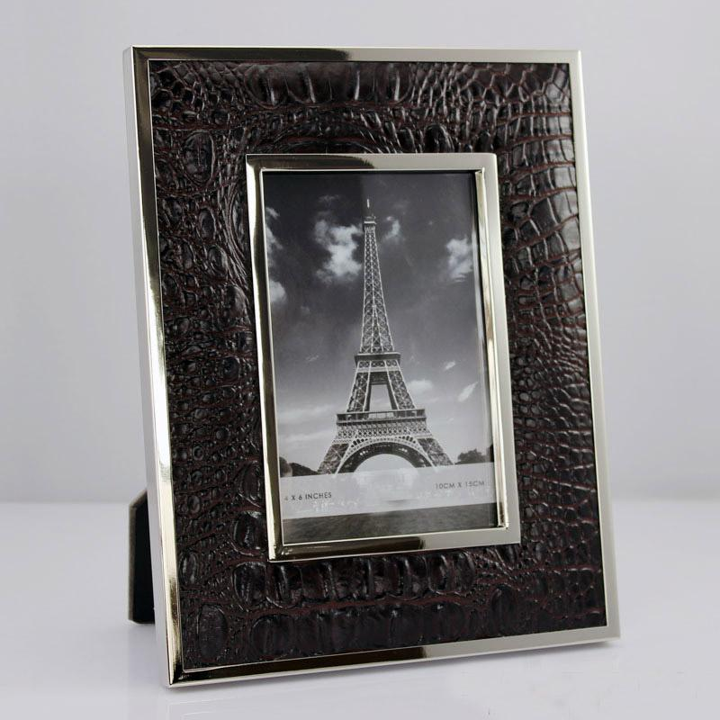 2018 Yakri Desktop Free Standing Pu Leather Photo Frames Prints With