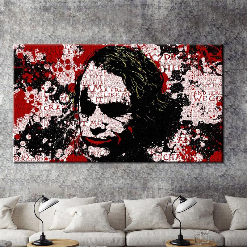 2019 Modern Wall Graffiti Art Oil Painting Joker Print Poster On