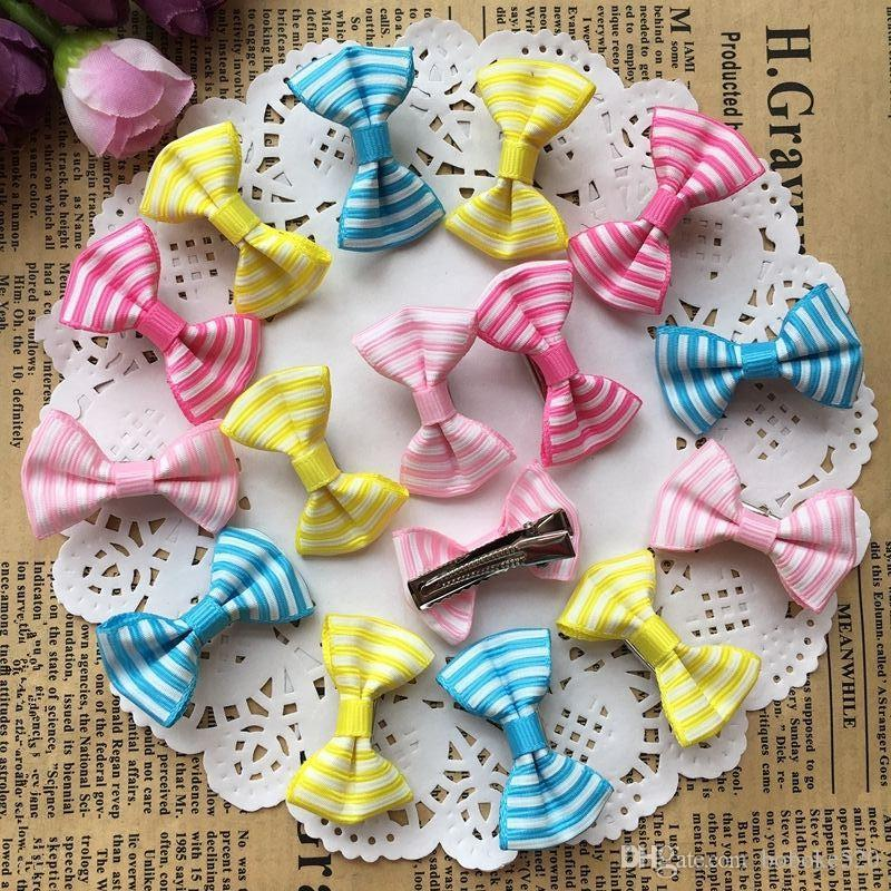 1d613062c071 1.4 Cute Colorful Stripe Print Small Bow Kids Baby Girls Hair Clips Hairpins  Barrettes Hair Accessories Gifts Cute Hair Accessories Hair Accessories For  ...