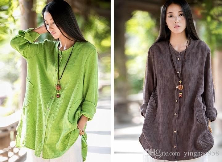 Chenjiagou Printemps et Automne Tai Chi vêtements de coton de mode de chanvre de style chemise de style chinois pratiquent des vêtements de Tai Chi