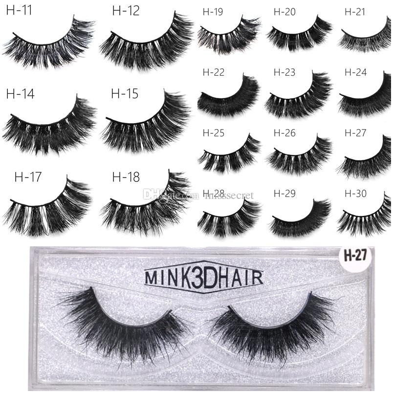 3d Mink Eyelashes Handmade Mink Lashes Thick Sexy False Eye Lashes Eye Makeup Make Up Tool 50 Styles