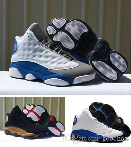 a040fa48024c83 ITALY BLUE 13s Hyper Royal 13 BRED 13 Black Peach INFRARED Whih Box PRM  Reflective Silver 3M Wholesale Basketball Shoes Cp3 Shoes Kids Sneakers  From Goodbox ...