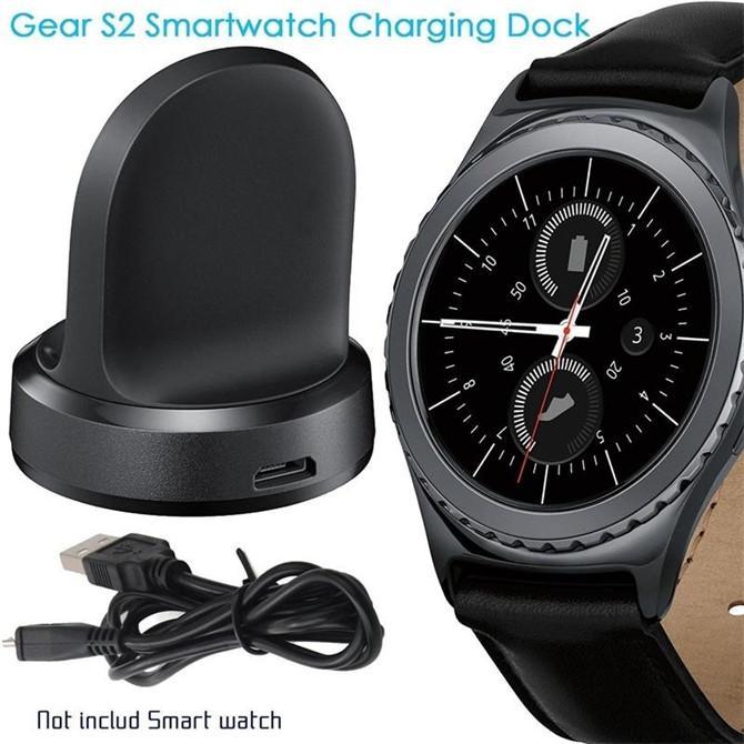Caldo Samsung Gear S2 Smart Watch Trasmettitore caricabatterie wireless Carica veloce Pad di ricarica wireless Dock collegato con USB Desktop