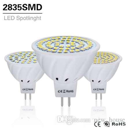 12v Dc 10pcs 16 Projecteur 8w Led 3 Lampe Éclairage 6w Mr16 24v Gu5 Mr Blanc Ampoule Ac 4w 2835smd 220v erCxWdoB