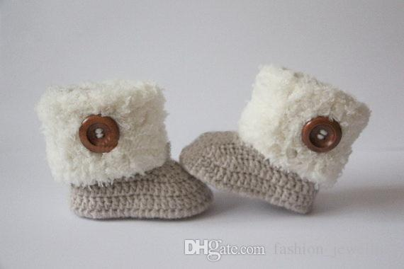 cf5cfffddfc73 Crochet baby booties, baby shoes, girl, boy, white, navy, blue wooden  button, winter boots Christening gift 0-12month 9cm,11cm 5pairs/10pcs
