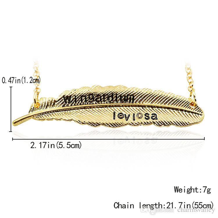 55 * 12 MM Hoja Del Árbol Colgante, Collar de Hojas de Plumas Colgante Para Las Mujeres Señoras Regalos de Joyería