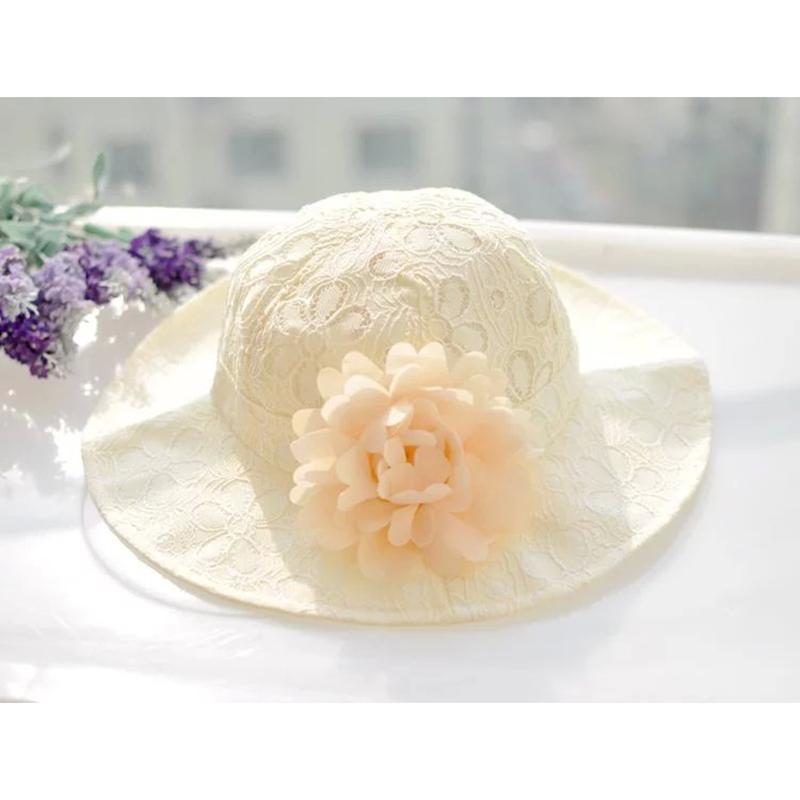 Compre Sombrero De Las Muchachas Florales Sombreros Del Cubo De La ...