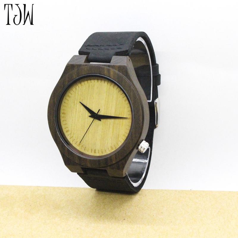 Grosshandel Tjw Uhren Herren Bambus Holz Uhren Chicago Armbander