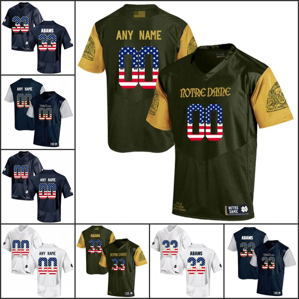 083020e36 National Flag Custom NCAA Notre Dame Fighting Irish College Football  Jerseys Any Name Number 3 Joe Montana 7 Wimbush 33 Adams UK 2019 From  Fanatics01