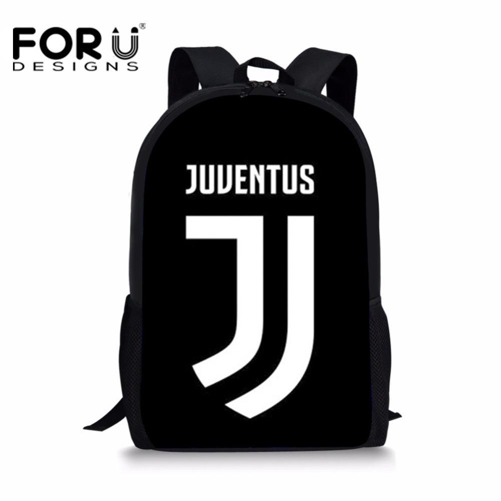 FORUDESIGNS School Bag Backpack Ronaldo Juventus Printing Boys Schoolbag  Students Book Bags Kids School Bags Teenager Schoolbags Y18100704 Nicest  Backpacks ... 851095971f112