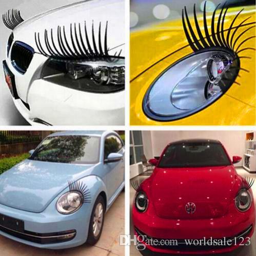 2019 New 3d Charming Black False Eyelashes Fake Eye Lash Sticker Car