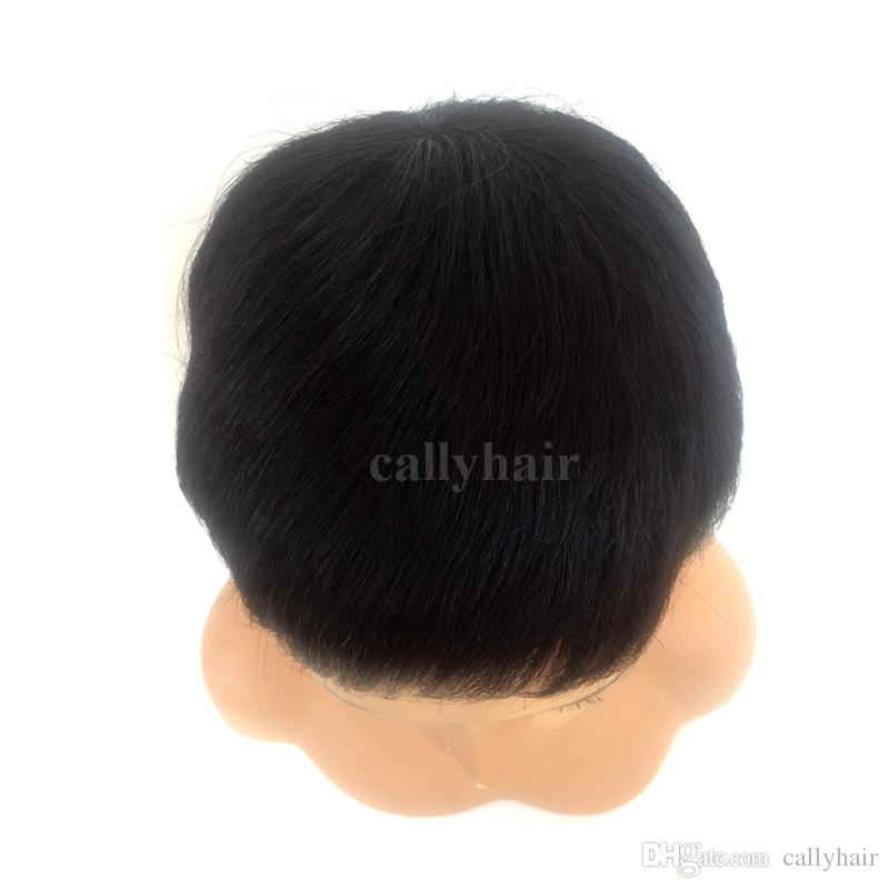 Pixie Short Cut Human Best Hiar Wigs le donne nere Glueless parrucca piena del merletto Parrucche brasiliane dei capelli 2017 Vendita calda