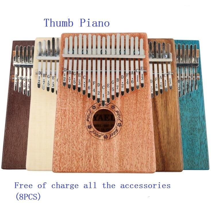 10keys/17keys Sounds Kalimba Likembe Finger Thumb Piano Portable Keyboard  Musical instruments Finger Thumb Piano For Beginners