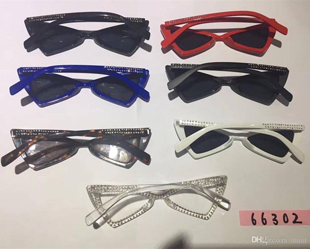852ffce2c Compre Nueva Moda Gafas De Sol Con Forma De Ojo De Gato Para Mujer 2018  Decoración De Diamantes De Lujo Que Cubre Las Gafas Gafas De Sol Para Mujer  Oculos ...