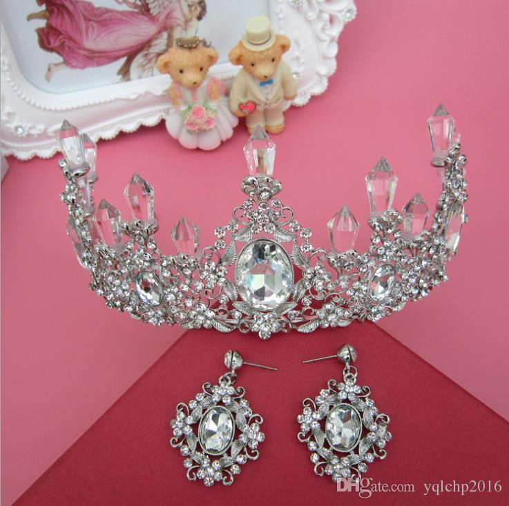 Bridal jewelry crystal crown headdress Baroque best selling a generation of  wedding dress accessories